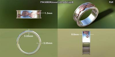 Auto Cad Wedding Band