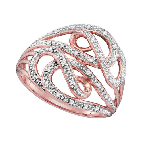 10k Rose Gold and 1/10ct Diamonds Ring $179