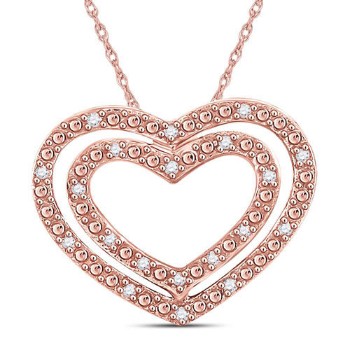 14k Rose Gold and Diamond Pendant $199